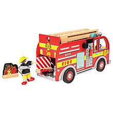 Buy Le Toy Van Wooden Fire Engine Play Set Online at johnlewis.com