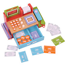 Buy Bigjigs Wooden Toy Shop Cash Register & Scanner Online at johnlewis.com