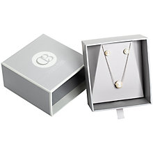 Buy Claudia Bradby Freshwater Pearl Pendant And Earrings Gift Box, Silver Online at johnlewis.com