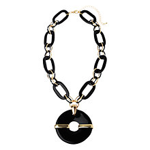 Buy Adele Marie Resin Link Necklace, Black / Gold Online at johnlewis.com