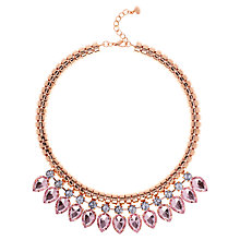 Buy Ted Baker Emari Pear Drop Necklace, Rose Gold Online at johnlewis.com