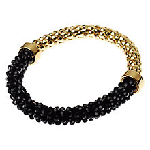 Buy Adele Marie Faceted Bead Mesh Bracelet, Black / Gold Online at johnlewis.com