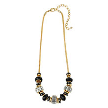 Buy Adele Marie Faceted Crystal Bead Necklace, Black/Gold Online at johnlewis.com