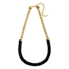 Buy Adele Marie Faceted Bead Mesh Necklace, Black / Gold Online at johnlewis.com