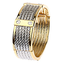 Buy Adele Marie Faux Rivets Cuff, Silver/Gold Online at johnlewis.com
