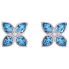 Buy Ted Baker Floa Gem Flower Earrings, Silver Online at johnlewis.com