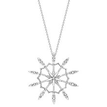 Buy London Road 9ct White Gold Diamond Velvet Leaf Pendant, White Online at johnlewis.com