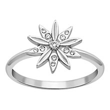 Buy London Road Velvet Leaf 9ct White Gold Diamond Cluster Ring, White Gold Online at johnlewis.com