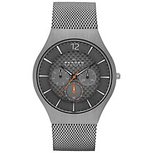 Buy Skagen SKW6146 Men's Grenen Functional Titanium Watch, Grey/Charcoal Online at johnlewis.com
