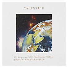 Buy Classic Planet Valentine's Card Online at johnlewis.com
