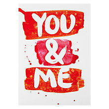 Buy Paperrose You & Me Valentine's Card Online at johnlewis.com