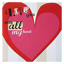 Buy Primrose Hill All My Heart Valentine's Card Online at johnlewis.com