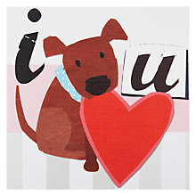 Buy Primrose Hill Puppy and Heart Valentine's Card Online at johnlewis.com