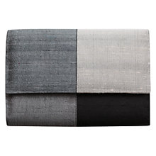 Buy East Sabrina Silk Clutch Bag, Slate Online at johnlewis.com