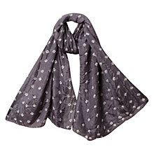 Buy East Silk Bandhini Scarf, Pewter Online at johnlewis.com