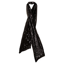 Buy East Sequin Scarf, Black Online at johnlewis.com