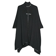 Buy Mango Alpaca Wool-blend Cape, Black Online at johnlewis.com