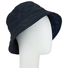 Buy John Lewis Quilted Bucket Hat, Navy Online at johnlewis.com