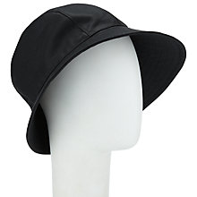 Buy John Lewis Waxed Trench Hat, Black Online at johnlewis.com