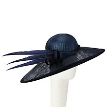 Buy Whiteley Lily East/West Occasion Hat, Navy Online at johnlewis.com