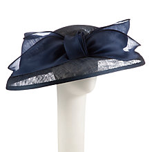 Buy Whiteley Ava Down Brim Bow Occasion Hat, Navy Online at johnlewis.com