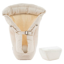 Buy Ergobaby Performance Baby Carrier Infant Insert, Natural Online at johnlewis.com