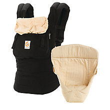 Buy Ergobaby Original Baby Carrier & Infant Insert, Black Online at johnlewis.com