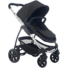 Buy iCandy Strawberry 2 Pushchair with Chrome Chassis, Carrycot & Anthracite Hood Online at johnlewis.com