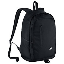 Buy Nike All Access Soleday Backpack, Black Online at johnlewis.com