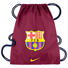 Buy Nike Barcelona Allegiance 2.0 Draw String Bag, Noble Red/Loyal Blue Online at johnlewis.com
