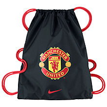 Buy Nike Manchester United Allegiance 2.0 Draw String Bag, Black/Action Red Online at johnlewis.com