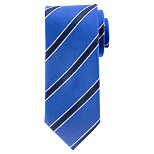 Buy John Lewis Colour Base Stripe Silk Tie Online at johnlewis.com