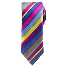 Buy John Lewis Multi Stripe Tie, Multi Online at johnlewis.com