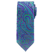 Buy John Lewis Contrast Paisley Silk Tie, Multi Online at johnlewis.com