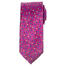 Buy John Lewis Vertical Twill Mini Dot Silk Tie, Multi Online at johnlewis.com