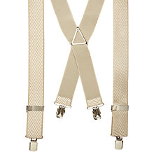 Buy John Lewis Stripe Braces, One Size, Champagne Online at johnlewis.com