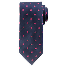 Buy John Lewis Colour Base Large Dot Silk Tie Online at johnlewis.com
