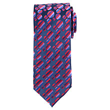 Buy John Lewis Satin Crazy Circles Silk Tie, Navy/Multi Online at johnlewis.com