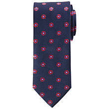 Buy John Lewis Large Dot Flower Silk Tie Online at johnlewis.com