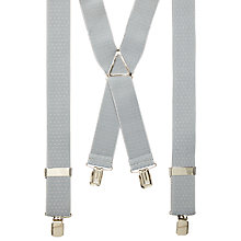 Buy John Lewis Diamond Pattern Braces, One Size, Silver Online at johnlewis.com