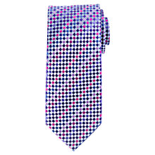 Buy John Lewis Mini Square Silk Tie, Light Blue/Multi Online at johnlewis.com