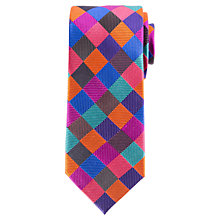 Buy John Lewis Diamond Twill Silk Tie, Multi Online at johnlewis.com