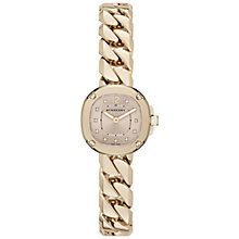Buy Burberry BBY1952 Women's Bracelet Watch, Gold/Nude Online at johnlewis.com