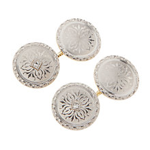 Buy Jenny Knott Platinum Fronted 14 Carat Gold and Diamond Cufflinks, Silver Online at johnlewis.com