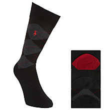 Buy Polo Ralph Lauren Argyle Socks, One Size, Pack of 3, Black/Red Online at johnlewis.com