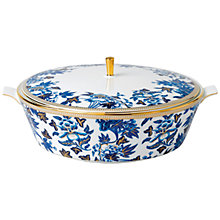 Buy Wedgwood Hibiscus Covered Vegetable Dish, Blue/White Online at johnlewis.com
