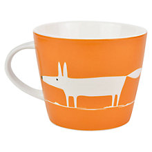 Buy Scion Mr Fox Sand and Sea Mug, Orange/White Online at johnlewis.com