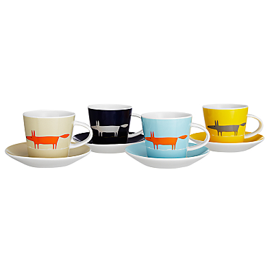 Scion Mr Fox Espresso Cups, Set of 4