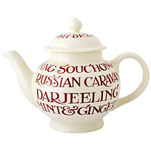 Buy Emma Bridgewater Red Toast Teapot Online at johnlewis.com