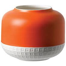 Buy HemingwayDesign for Royal Doulton Rose Vase, H14cm, Orange/White Online at johnlewis.com